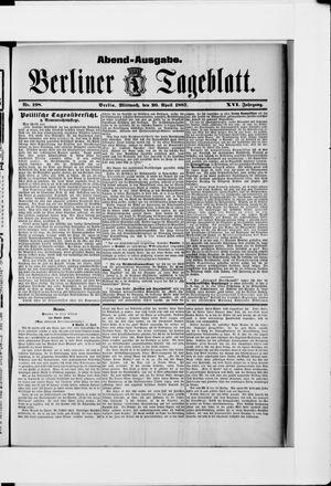 Berliner Tageblatt und Handels-Zeitung vom 20.04.1887