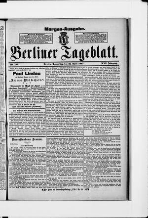 Berliner Tageblatt und Handels-Zeitung vom 21.04.1887