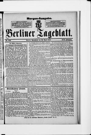 Berliner Tageblatt und Handels-Zeitung vom 23.04.1887