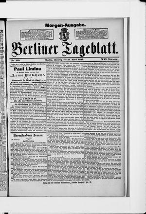 Berliner Tageblatt und Handels-Zeitung vom 24.04.1887