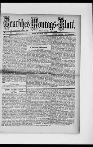 Berliner Tageblatt und Handels-Zeitung vom 25.04.1887