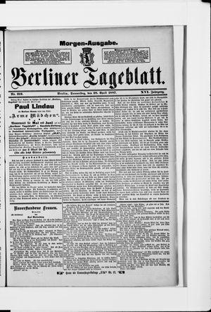 Berliner Tageblatt und Handels-Zeitung vom 28.04.1887
