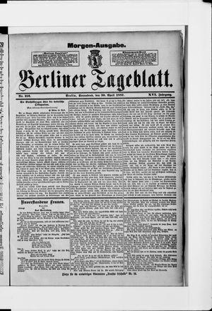 Berliner Tageblatt und Handels-Zeitung vom 30.04.1887