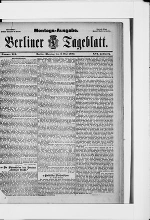 Berliner Tageblatt und Handels-Zeitung vom 02.05.1887