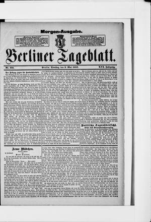 Berliner Tageblatt und Handels-Zeitung on May 3, 1887