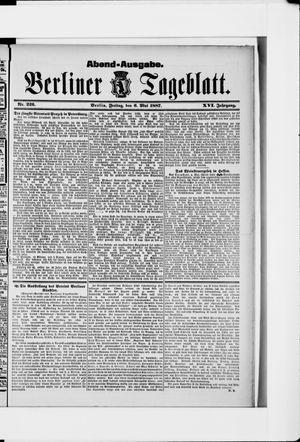 Berliner Tageblatt und Handels-Zeitung vom 06.05.1887