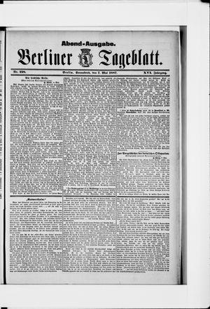 Berliner Tageblatt und Handels-Zeitung vom 07.05.1887