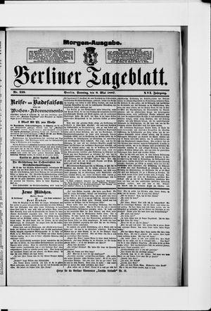 Berliner Tageblatt und Handels-Zeitung vom 08.05.1887