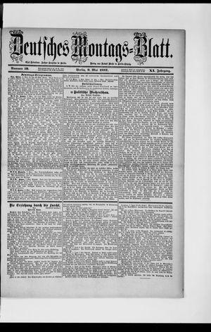 Berliner Tageblatt und Handels-Zeitung vom 09.05.1887