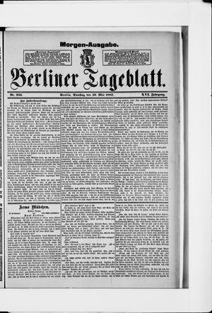Berliner Tageblatt und Handels-Zeitung vom 10.05.1887