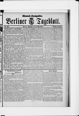 Berliner Tageblatt und Handels-Zeitung vom 11.05.1887