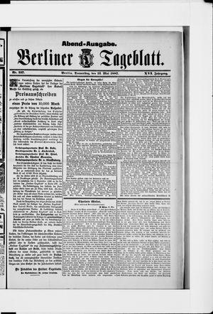 Berliner Tageblatt und Handels-Zeitung vom 12.05.1887