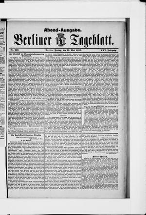 Berliner Tageblatt und Handels-Zeitung vom 13.05.1887