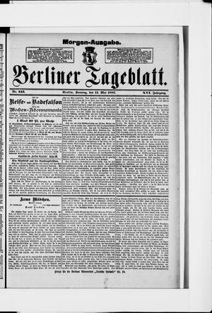 Berliner Tageblatt und Handels-Zeitung vom 15.05.1887