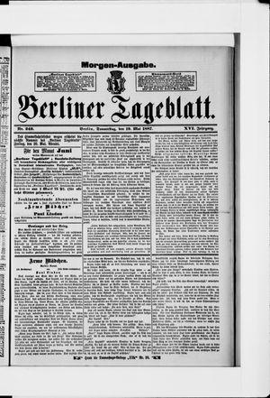 Berliner Tageblatt und Handels-Zeitung on May 19, 1887