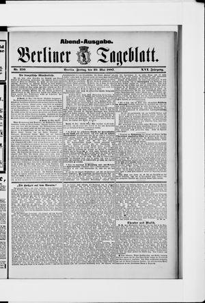 Berliner Tageblatt und Handels-Zeitung vom 20.05.1887