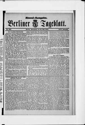 Berliner Tageblatt und Handels-Zeitung vom 21.05.1887