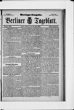 Berliner Tageblatt und Handels-Zeitung vom 23.05.1887