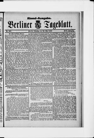 Berliner Tageblatt und Handels-Zeitung vom 24.05.1887