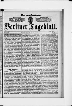 Berliner Tageblatt und Handels-Zeitung vom 25.05.1887