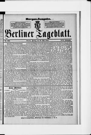 Berliner Tageblatt und Handels-Zeitung vom 27.05.1887