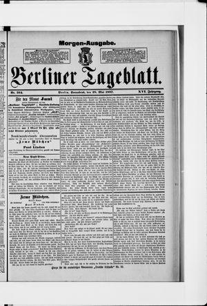 Berliner Tageblatt und Handels-Zeitung vom 28.05.1887
