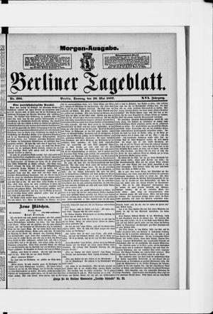 Berliner Tageblatt und Handels-Zeitung vom 29.05.1887