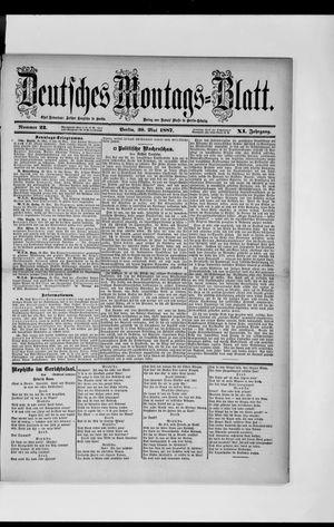 Berliner Tageblatt und Handels-Zeitung vom 30.05.1887