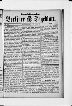 Berliner Tageblatt und Handels-Zeitung vom 31.05.1887