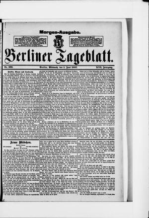 Berliner Tageblatt und Handels-Zeitung vom 01.06.1887