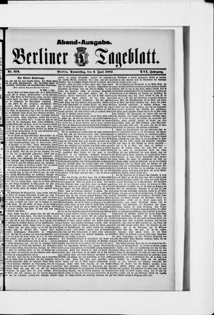 Berliner Tageblatt und Handels-Zeitung on Jun 2, 1887