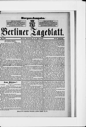 Berliner Tageblatt und Handels-Zeitung vom 04.06.1887