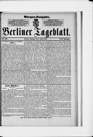 Berliner Tageblatt und Handels-Zeitung vom 05.06.1887