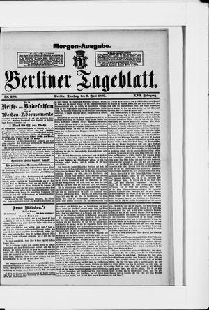 Berliner Tageblatt und Handels-Zeitung vom 07.06.1887