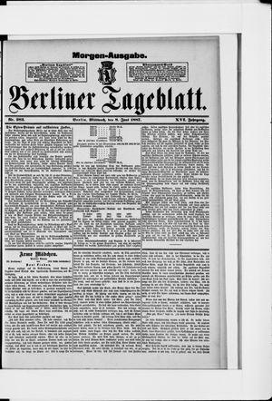 Berliner Tageblatt und Handels-Zeitung vom 08.06.1887