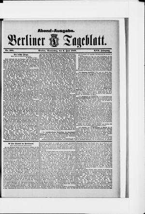 Berliner Tageblatt und Handels-Zeitung vom 09.06.1887