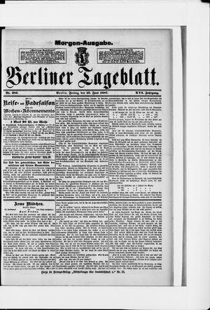 Berliner Tageblatt und Handels-Zeitung on Jun 10, 1887