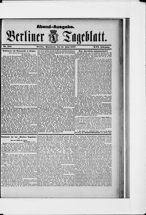 Berliner Tageblatt und Handels-Zeitung vom 11.06.1887