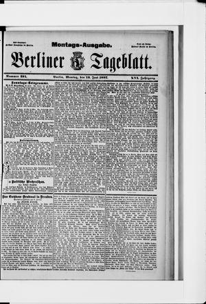 Berliner Tageblatt und Handels-Zeitung vom 13.06.1887