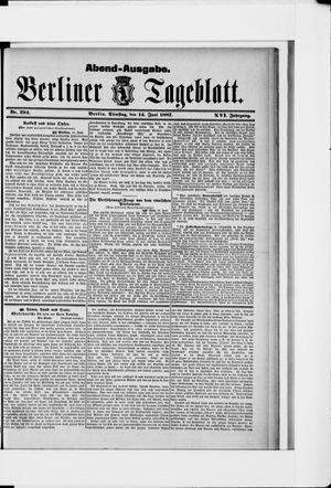 Berliner Tageblatt und Handels-Zeitung vom 14.06.1887