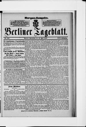 Berliner Tageblatt und Handels-Zeitung vom 18.06.1887