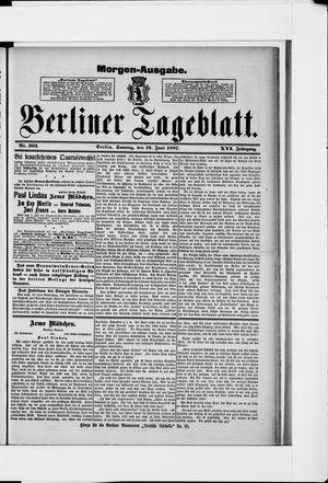 Berliner Tageblatt und Handels-Zeitung vom 19.06.1887