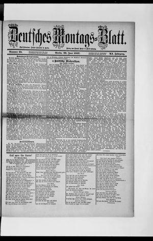 Berliner Tageblatt und Handels-Zeitung vom 20.06.1887