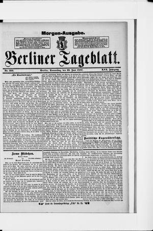 Berliner Tageblatt und Handels-Zeitung vom 23.06.1887