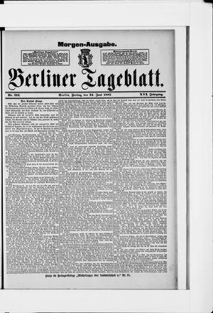 Berliner Tageblatt und Handels-Zeitung vom 24.06.1887