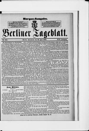 Berliner Tageblatt und Handels-Zeitung vom 25.06.1887