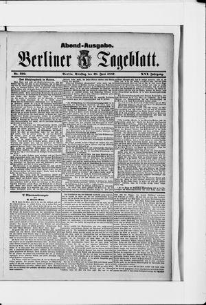 Berliner Tageblatt und Handels-Zeitung vom 28.06.1887