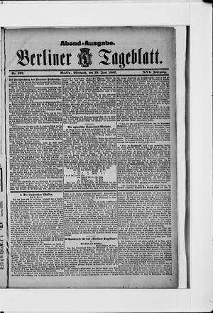 Berliner Tageblatt und Handels-Zeitung vom 29.06.1887