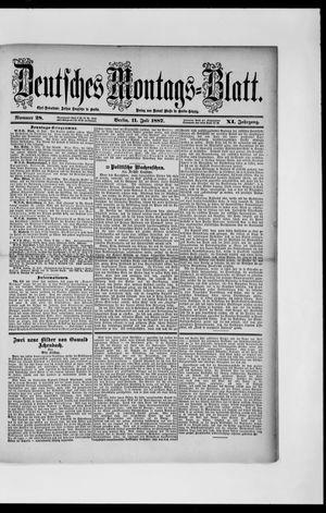 Berliner Tageblatt und Handels-Zeitung vom 11.07.1887