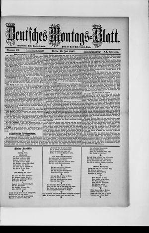 Berliner Tageblatt und Handels-Zeitung vom 18.07.1887